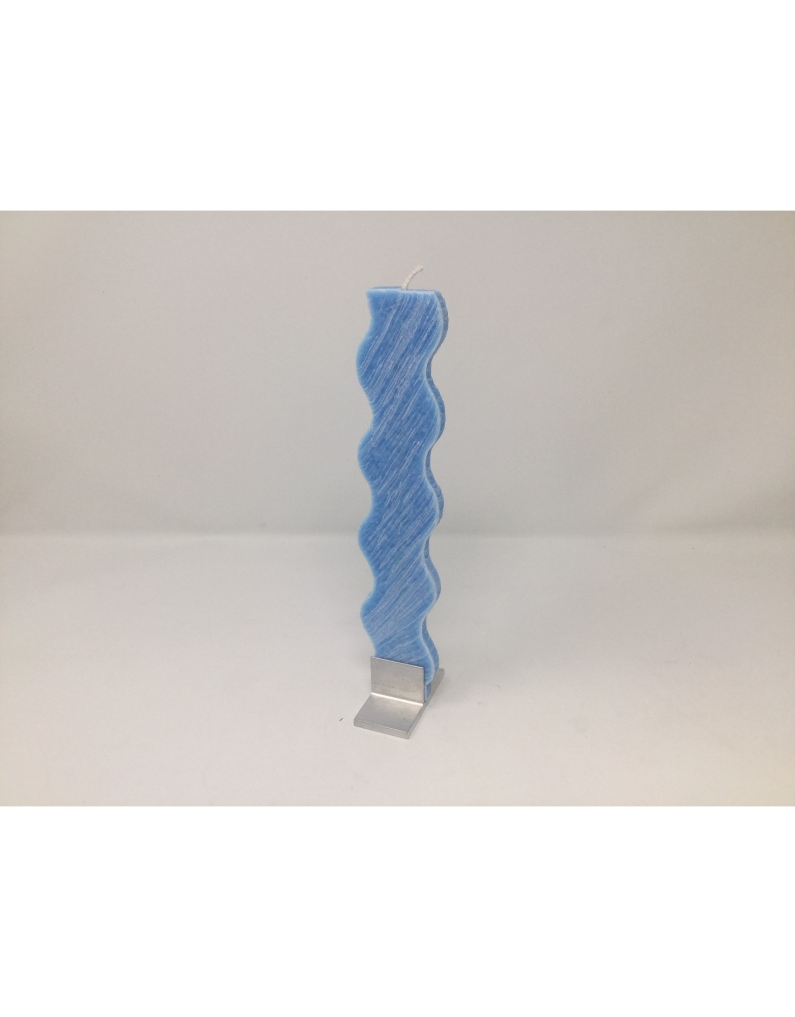 163307-10 Light Blue Rippled Candle