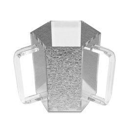 Presented Touch New Washing Cup Hex Shape -Silver Acrylic
