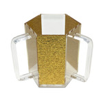 Presented Touch New Washing Cup Hex Shape -Gold Acrylic