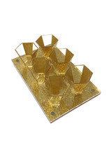 Presented Touch 6 Mini Cup Set-Gold Acrylic