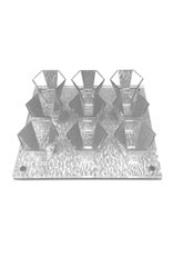 Presented Touch 9 Mini Cup Set-Silver Acrylic