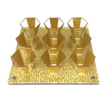Presented Touch 9 Mini Cup Set-Gold Acrylic