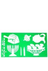 """Chanukah Stencil - Green 4.5 X 8"""""""