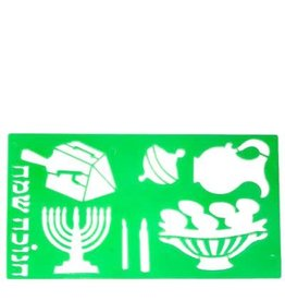Chanukah Stencil - Green 4.5 X 8""