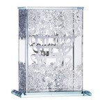 16459 Crystal & Silver Zemiroth Holder Floral 5 Benchers Included
