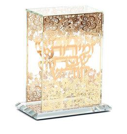 164592 Crystal Zemiroth Holder Gold Flower Design 5 Bentches Included
