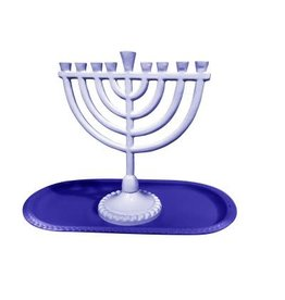 59070 - Two Shade Blue Menorah