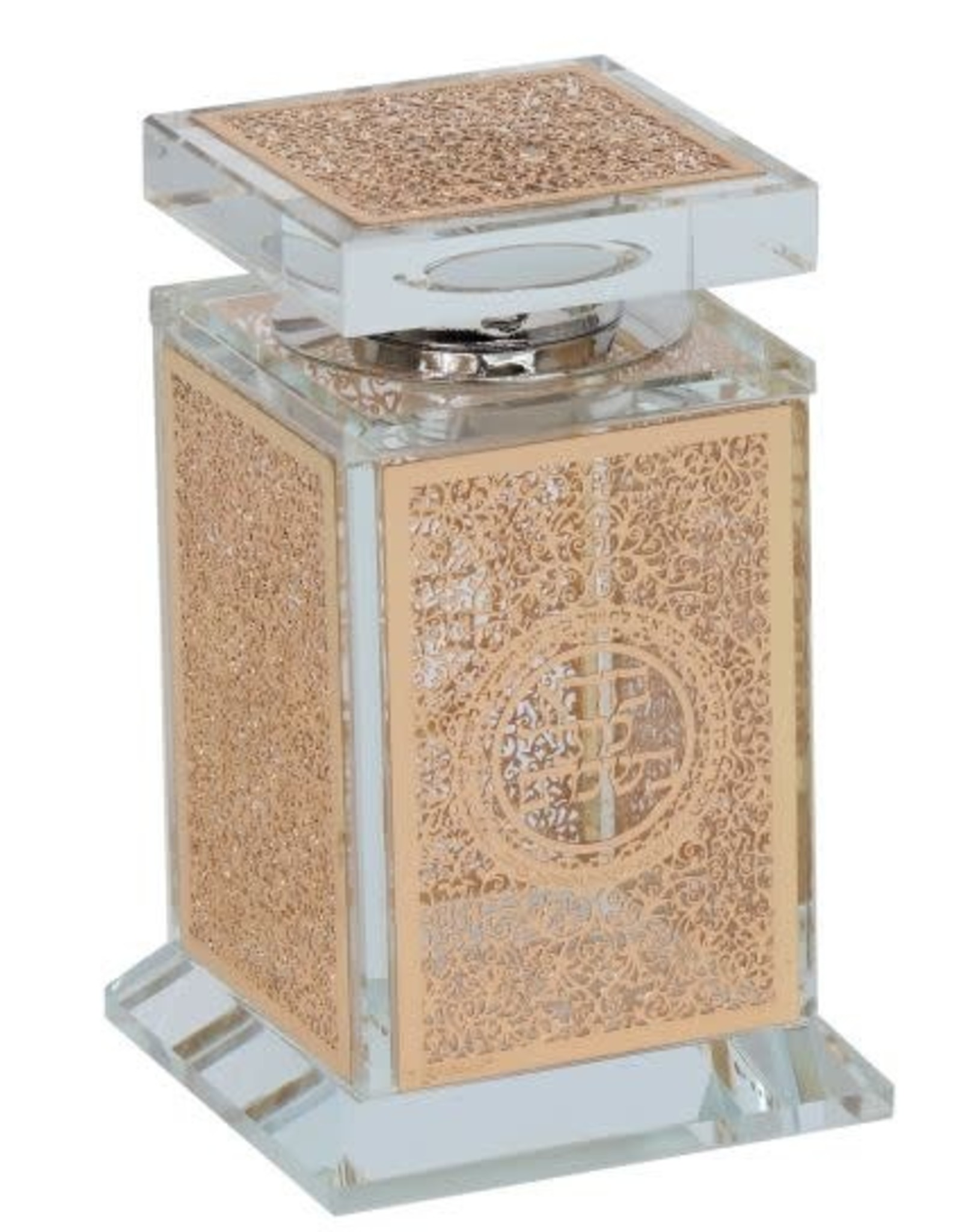 161018 Crystal Besomim Holder With Gold Plate 2x2x4