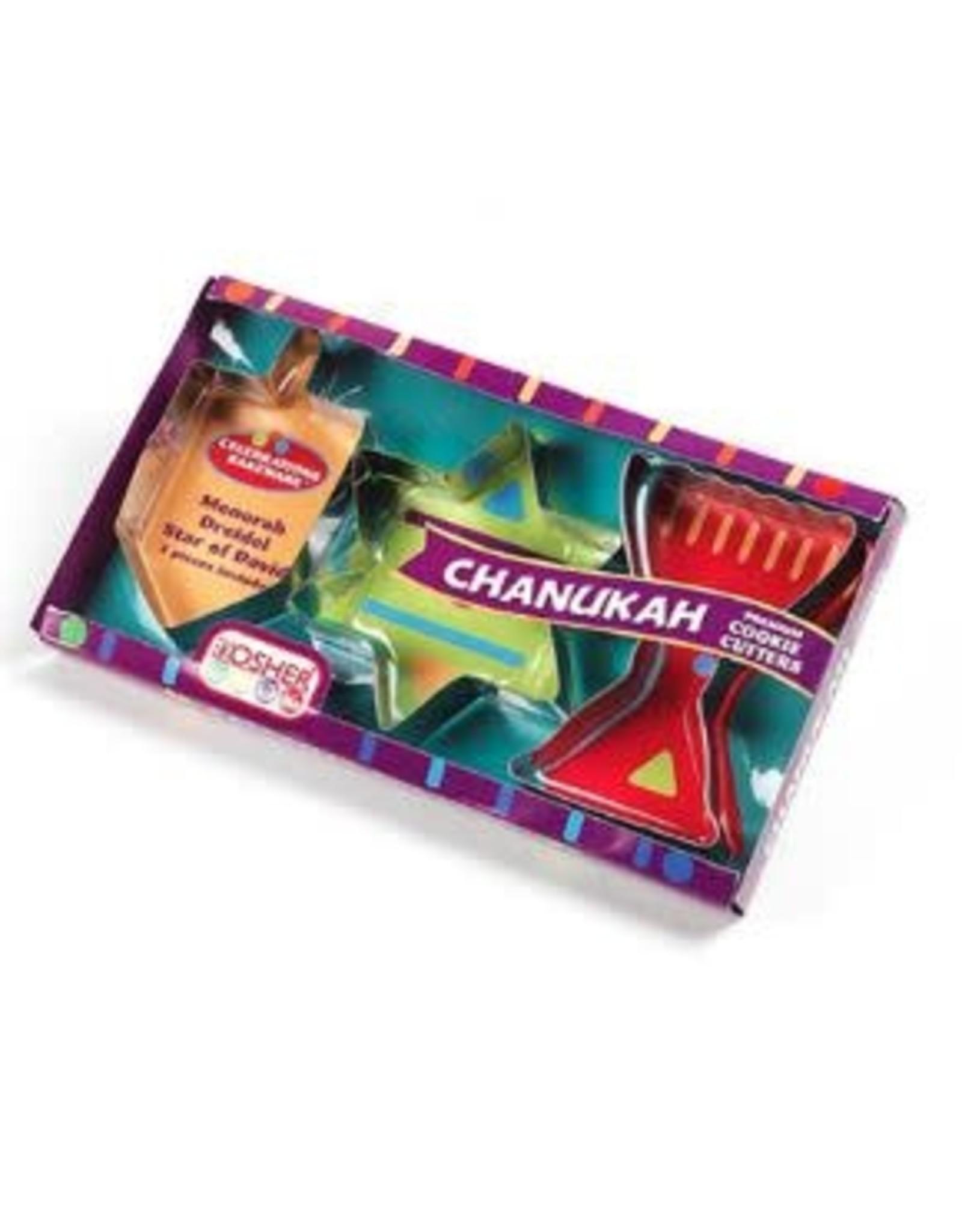 3 Pc Chanukah Cookie Cutter Set