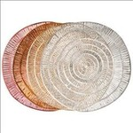 "Round PVC Placemat 15""- Barcelona Metallic"