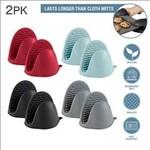 2pk- Heat Resistant Silicone MINI Pot Gripper - Asst.