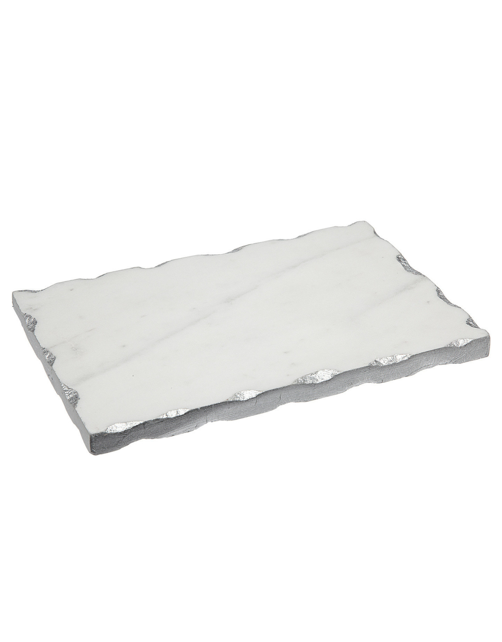 61685 Marble Silver Shot Glass Tray 9X6