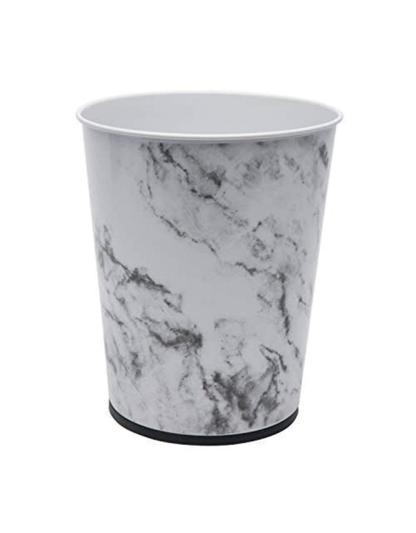 5L Waste Bin Round - Marble Design