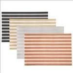 """Luxe Stripe Woven Placemat - Rect. Shape 12""""x18"""" Asst. Colors"""