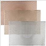 Oblong PVC Placemat 12x18- Santorini Metallic