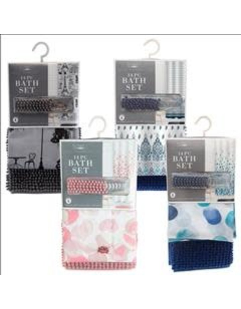 Bathroom Set Shower Curtain Printed Polyester 70x72