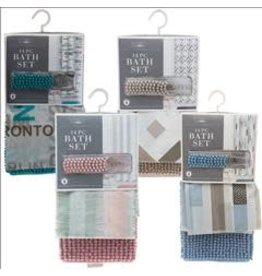 Bathroom Set Shower Curtain Printed PEVA 70x72