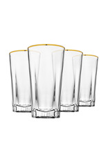 48372 S/4 Hudson Gold Banded HB Glass