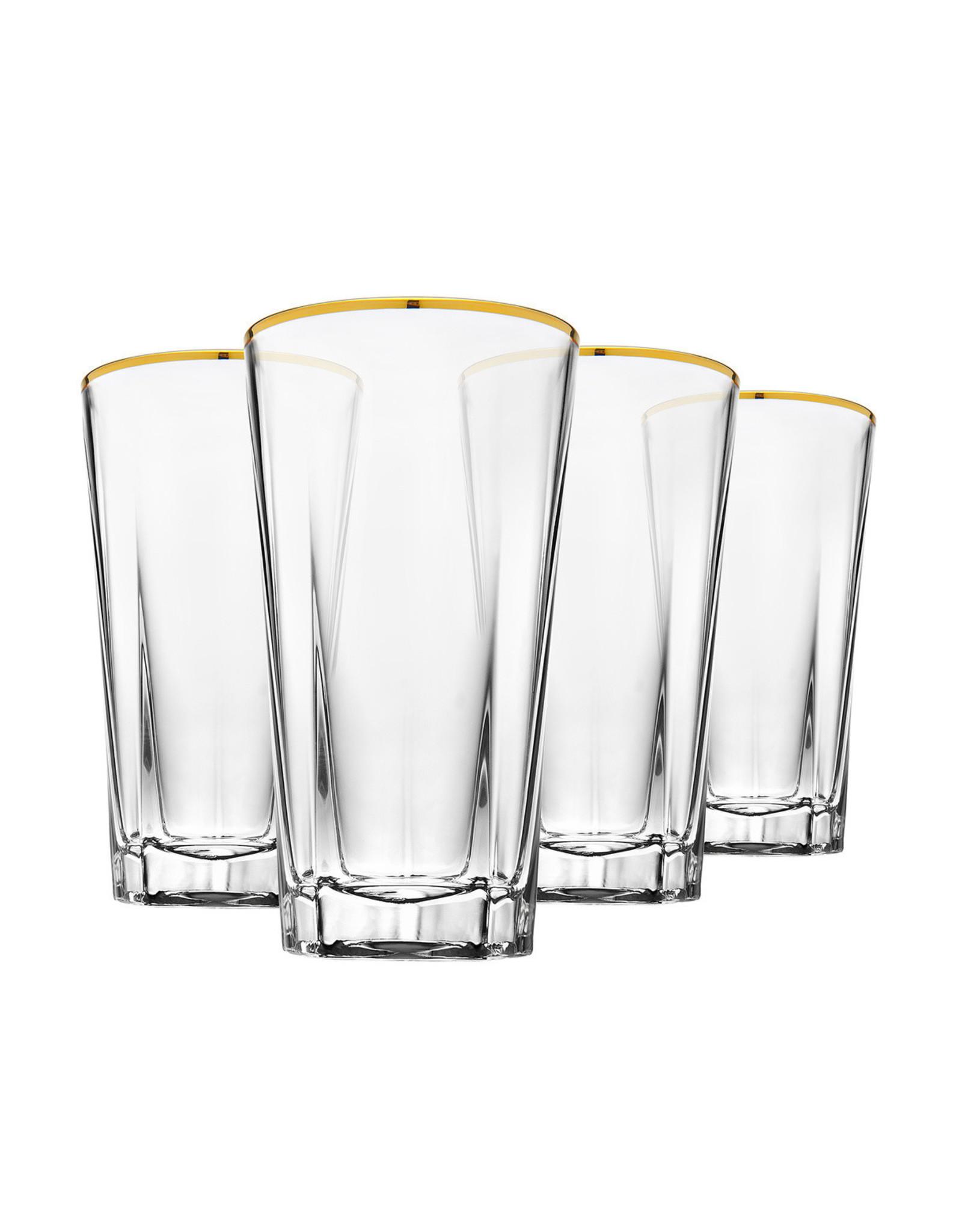 48372 S/4 Hudson Gold Banded HB Glass