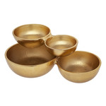 5562 Gold Cluster Candy Bowl