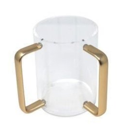 Presented Touch Wash Cup Round Shape-Gold Handle