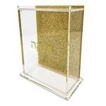 Presented Touch Tzedakah Box Glitter Gold