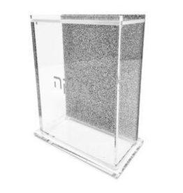 Presented Touch Tzedakah Box Glitter Silver