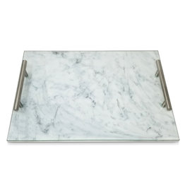 Lucite Gold Handle Marble Challah Board