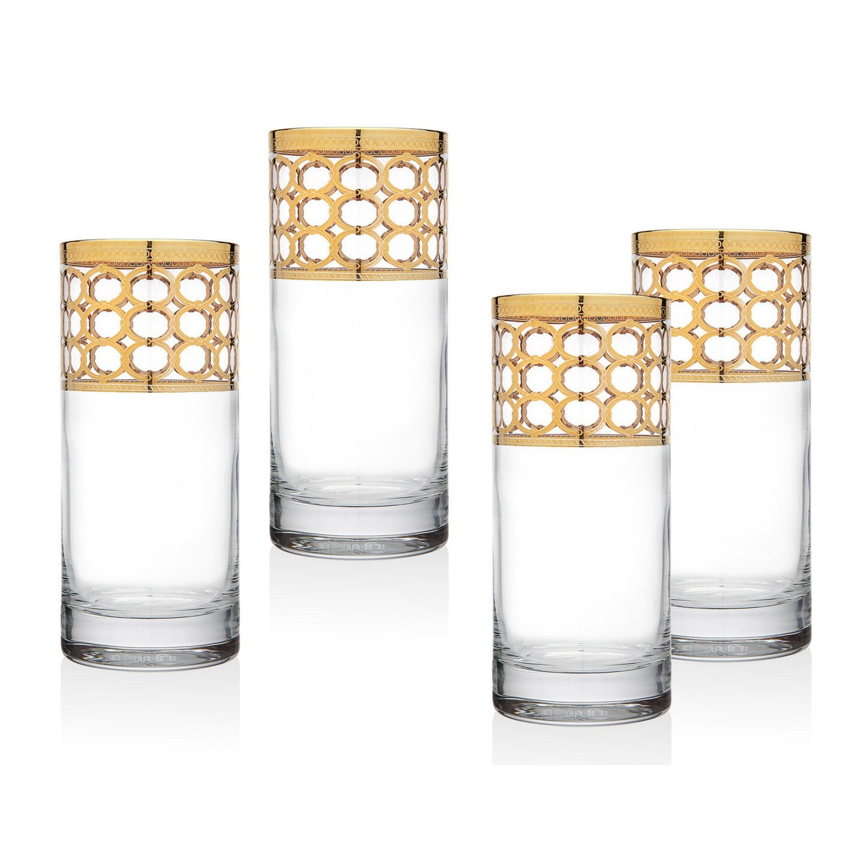 26306 Emilio Gold Highball Glass