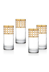 26306 Emilio Gold Highball Glass
