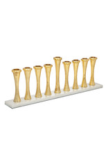 64550 Gold Aluminum And Marble Menorah