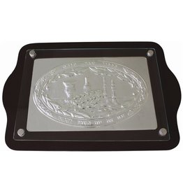 CT19818-B Challah Tray Wood & Silver Plated