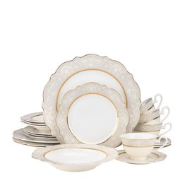 Always White Dinnerware Service for 4