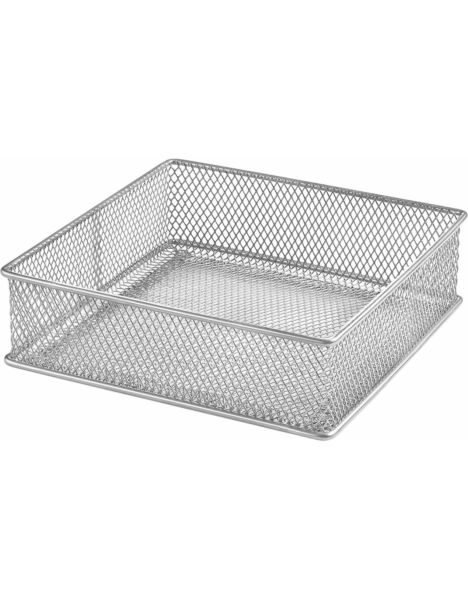 Silver Mesh Organizer Basket 6x6