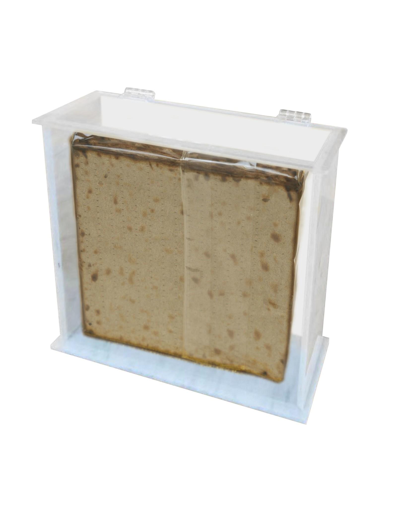 Standing Matzoh Box  Square Marble
