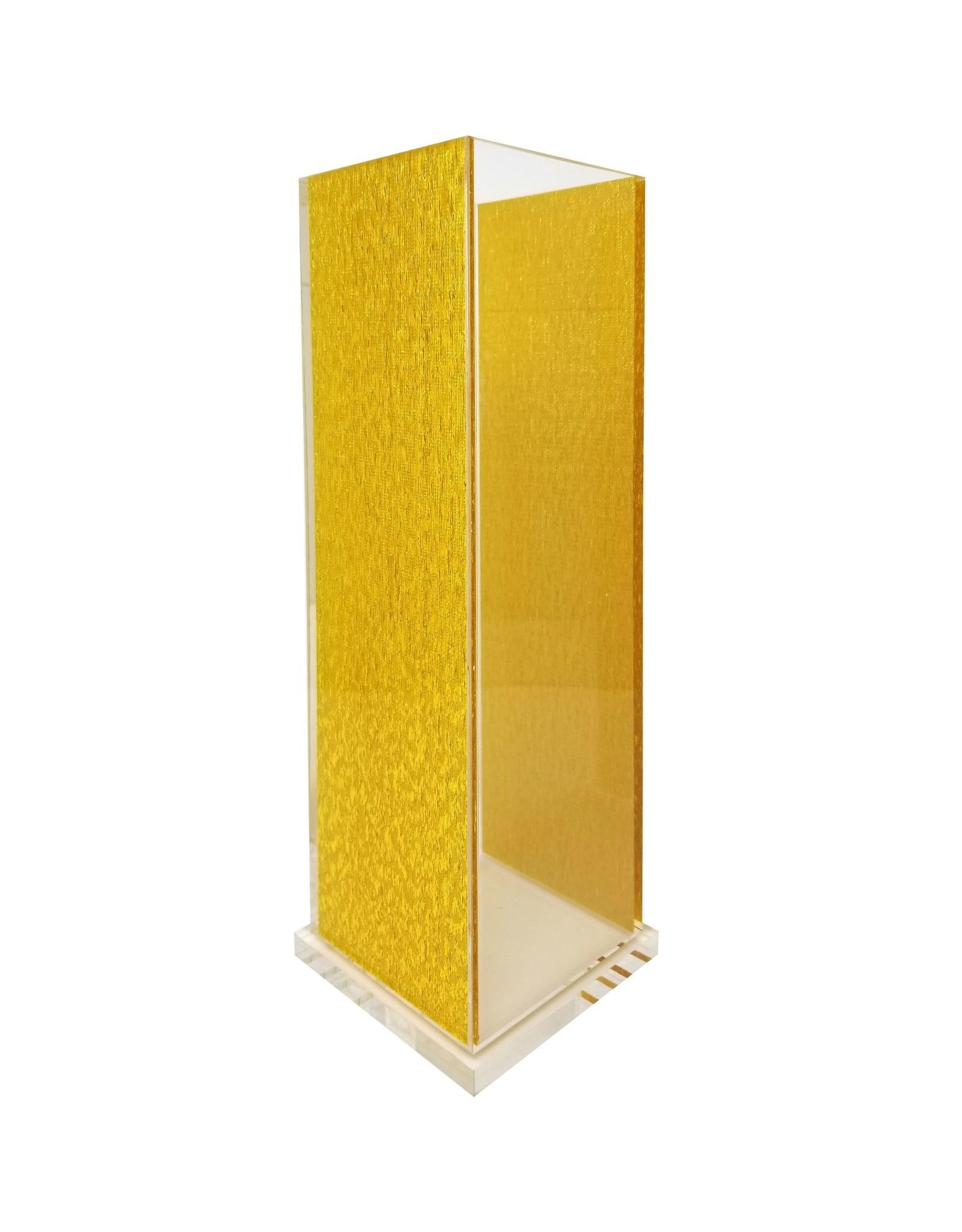 Acrylic Vase Square gold