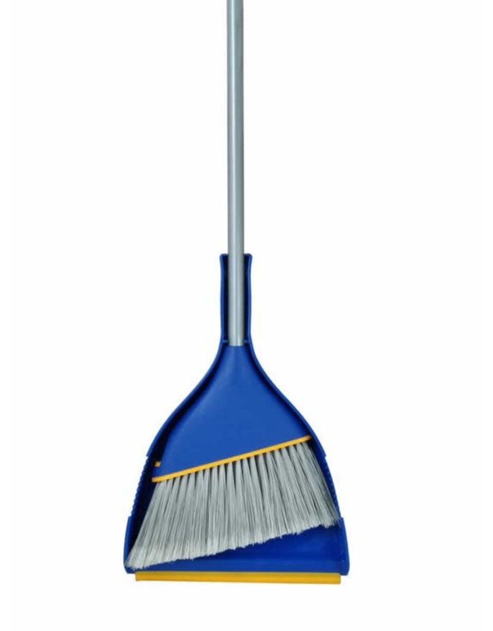 Angle Broom w Clip-on Dust Pan