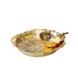 Large Gold Leaf Shaped Chip