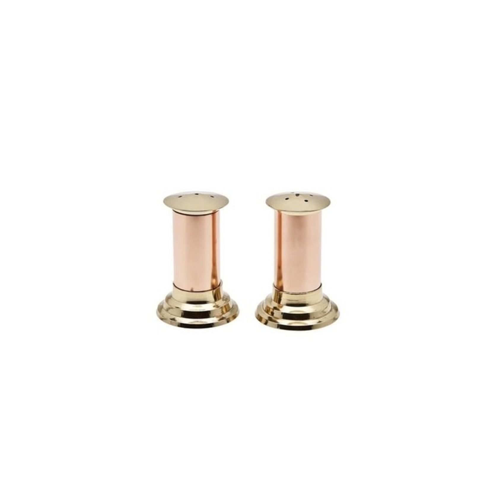 70011 Hearth Copper/ Brass Salt & Pepper Set
