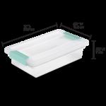 Clear Storage Clip Box -11x6.5x2.75