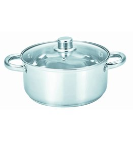 DUTCH OVEN-5qt S.S. w-GLASS COVER