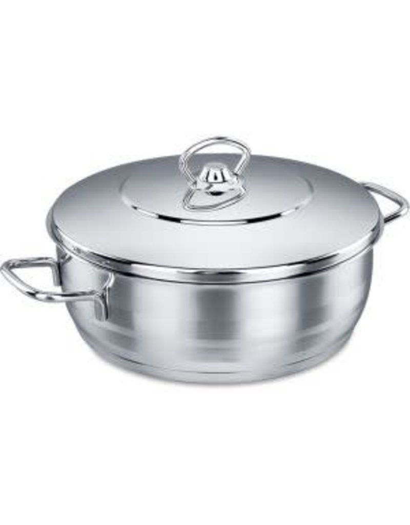 A1941 Korkmaz Stainless Steel Dutch Oven - 7 Qt