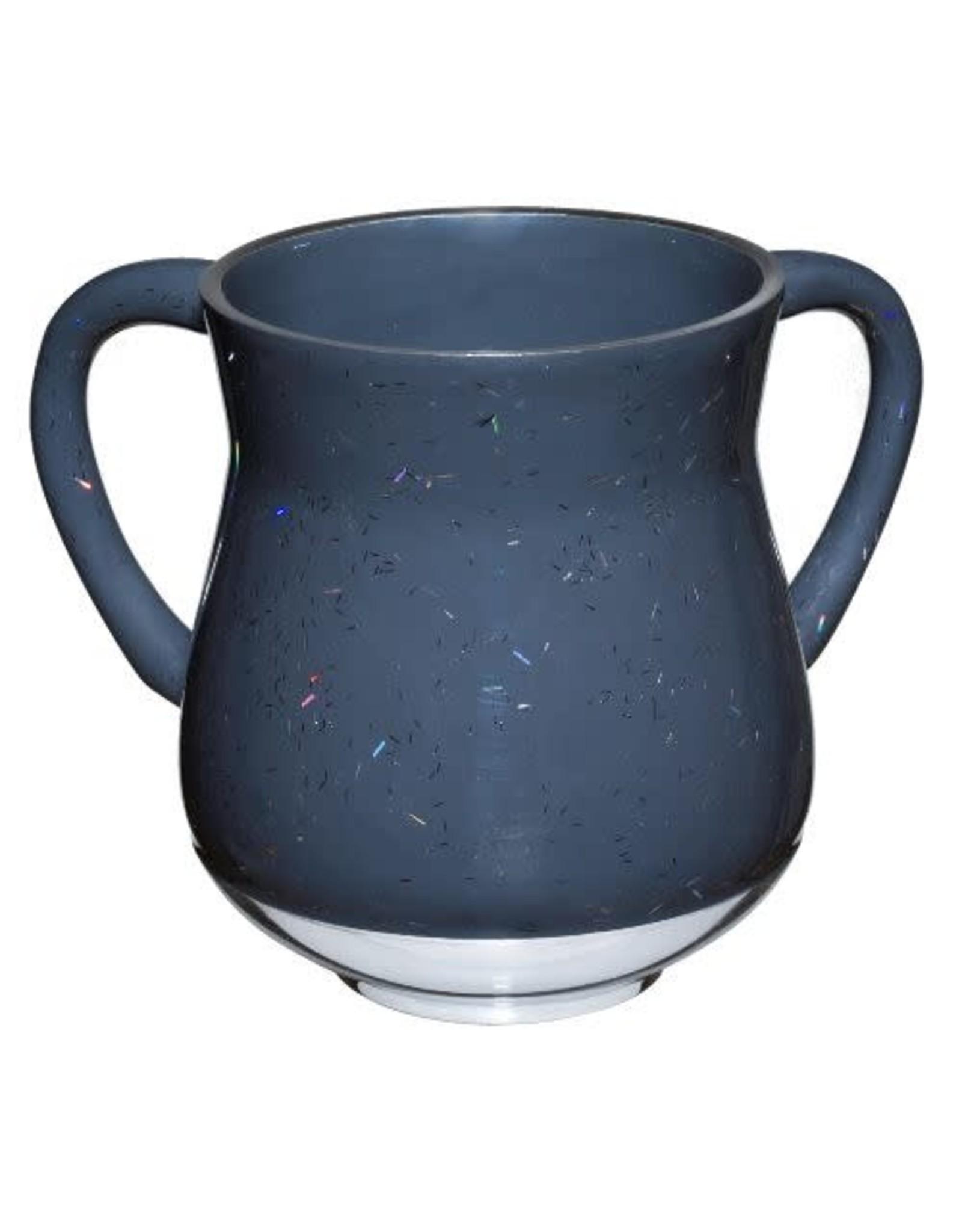 44029 Dark Grey Sparkling Stripes Washing Cup