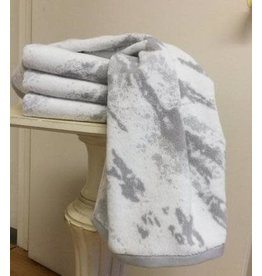 Marble White/Grey Hand Towel