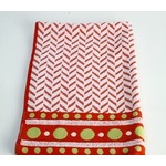 Roseberry White/Red Dish Towel