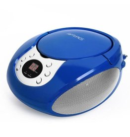 Boombox AM FM CD Blue