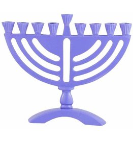 "6 X Purple Colored 6"" Menorah"