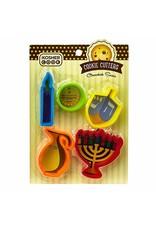 12 x Plastic Cookie Cutters - Chanukah Set 5pc.