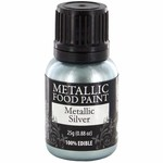 Metallic Silver Food Paint