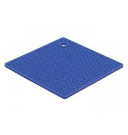Silicone Blue Honeycomb Trivet